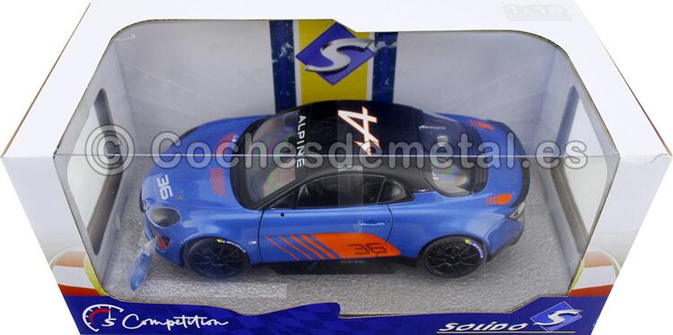 2019 Alpine A110 Cup Launch Livery Azul/Naranja/Negro 1:18 Solido S1801605