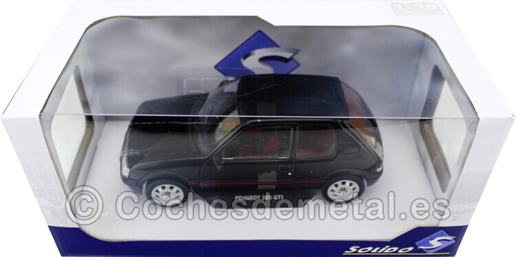 1990 Peugeot 205 GTI 1.9 Phase 2 Negro Onyx 1:18 Solido S1801707