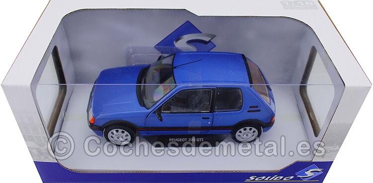 1988 Peugeot 205 GTi 1.9L Mk1 Bleu Miami 1:18 Solido S1801708