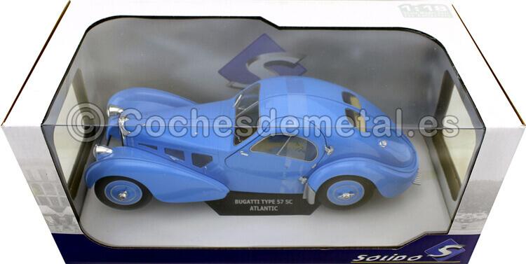 1937 Bugatti Atlantic 57 SC T35 Bleu 1:18 Solido 1802104