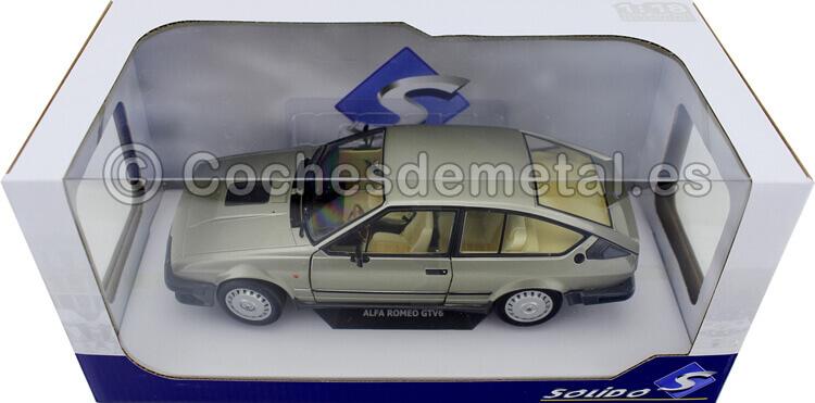 1984 Alfa Romeo GTV6 Silver/Gold Metallic 1:18 Solido S1802304