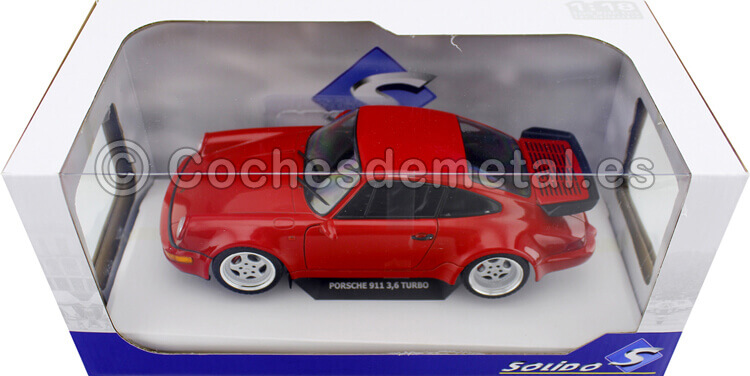 1990 Porsche 911 Turbo (964) 3.6 RS Indian Red 1:18 Solido 1803402