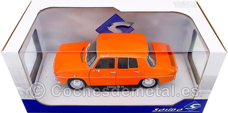 1967 Renault 8 R8 TS Naranja 1:18 Solido S1803603