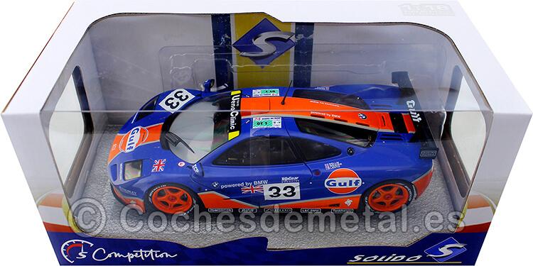 1996 McLaren F1 GTR 24H LeMans Gulf Racing Lehto/Weaver/Bellm 1:18 Solido S1804101