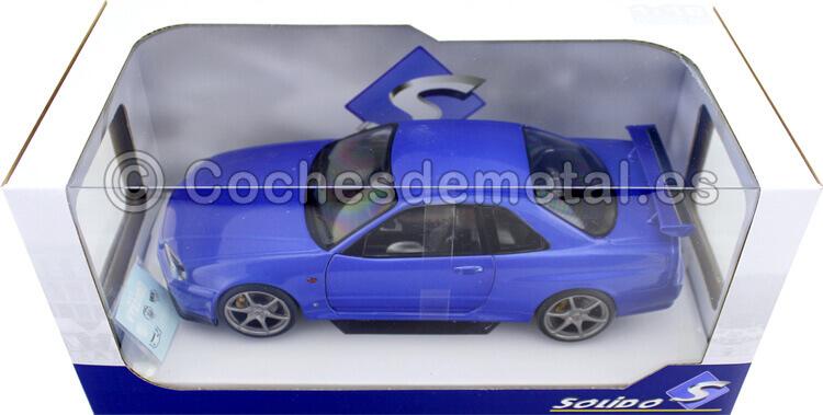 1999 Nissan Skyline GT-R (R34) Bayside Blue 1:18 Solido S1804301