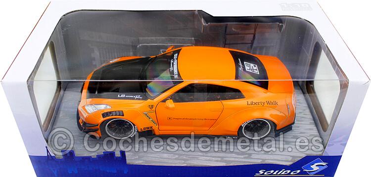 2020 Nissan GTR35 LB Work Type 2 Orange Metallic 1:18 Solido S1805803