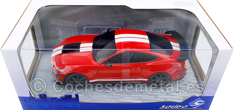 2020 Ford Mustang Shelby GT500 Fast Track Rojo/Blanco 1:18 Solido S1805903