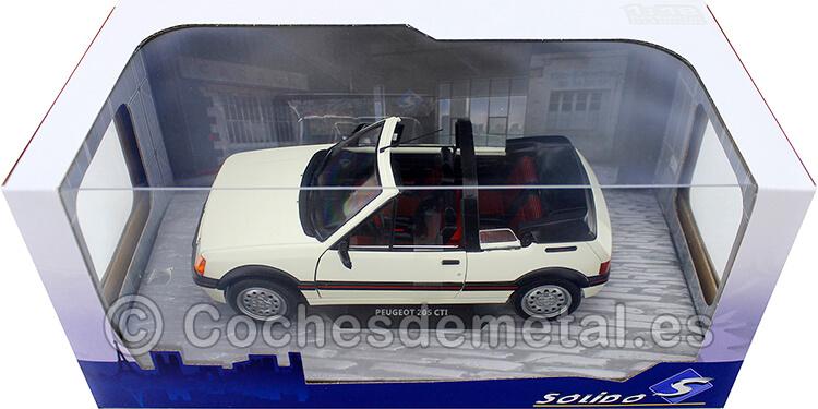 1989 Peugeot 205 CTI MK1 Convertible Blanco 1:18 Solido S1806201