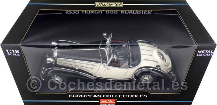 1939 Horch 855 Special Roadster Negro/Beige 1:18 Sun Star 2405