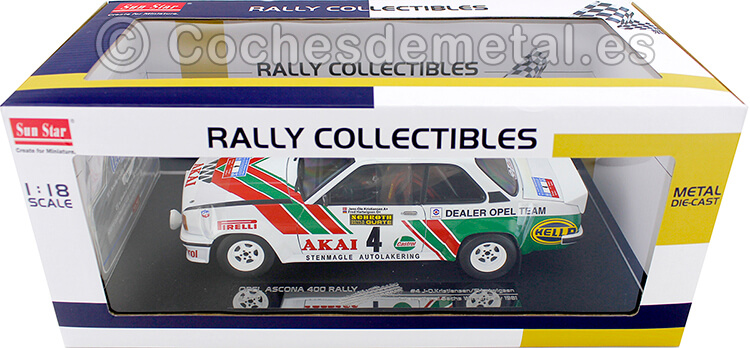 1981 Opel Ascona 400 Winner Rally International Sachs 1:18 Sun Star 5370