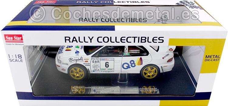 1998 Subaru Impreza 555 Winner Rally Il Ciocco 1:18 Sun Star 5513