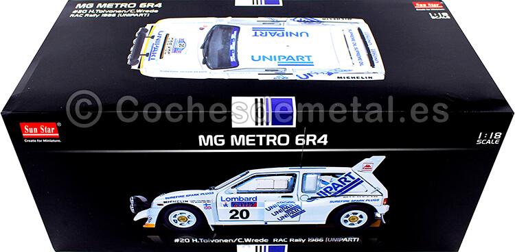 1986 MG Metro 6R4 Rally Lombard Toivonen / Wilson 1:18 Sun Star 5539