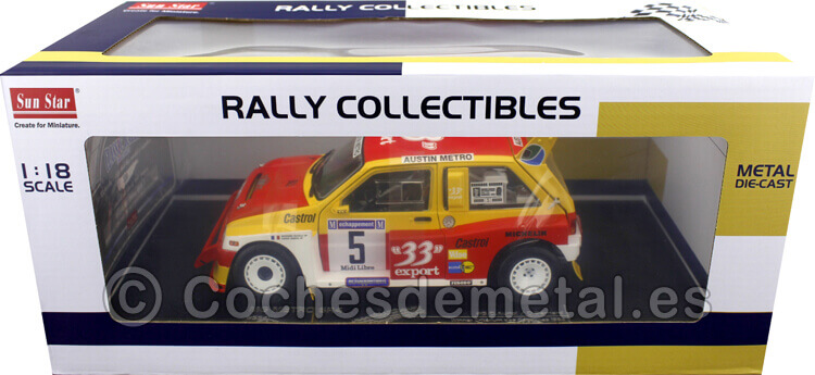 1986 MG Metro 6R4 Winner Criterium Des Cevennes 1:18 Sun Star 5541