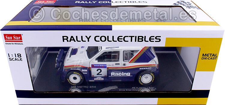 1986 MG Metro 6R4 Winner British Midland Ulster Rally 1:18 Sun Star 5542