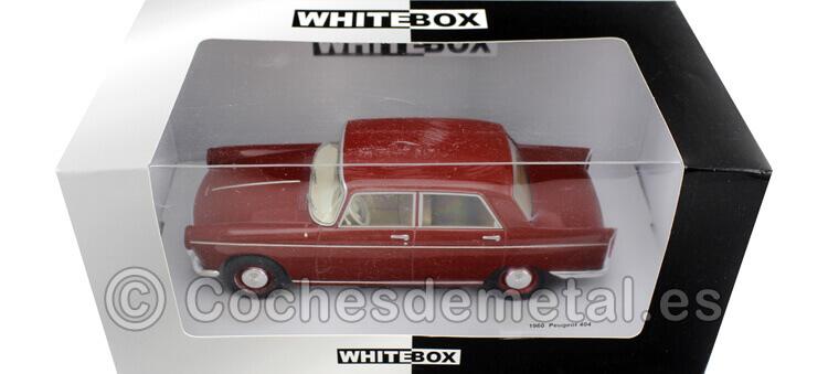 1960 Peugeot 404 Red 1:24 WhiteBOX 124024