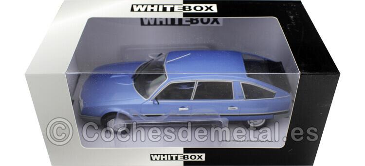 1986 Citroen CX 2500 Prestige Phase 2 Metallic Blue 1:24 WhiteBOX 124027