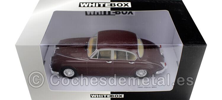 1960 Jaguar MK II Dark Red 1:24 WhiteBOX 124029