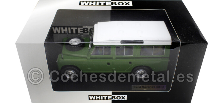 1980 Land Rover Series III 109 Especial Verde/Blanco 1:24 WhiteBox 124033