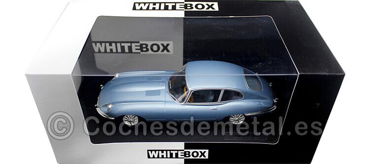 1961 Jaguar Type E Coupe Azul Metalizado 1:24 WhiteBox 124039