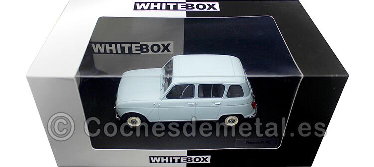 1964 Renault 4 R4 4L Azul Claro 1:24 WhiteBox 124041