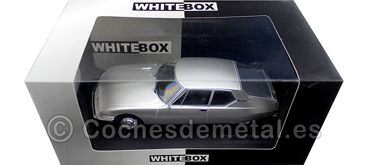 1970 Citroen SM Gris Plata 1:24 WhiteBox 124046