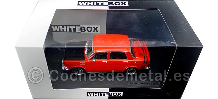 1970 Simca 1000 Rallye 2 Año de construcción 1970 Rojo/Negro 1:24 WhiteBox 124050