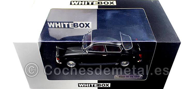1970 Saab 96 V4 Negro 1:24 WhiteBox 124051