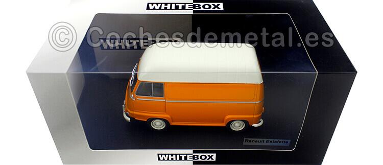 1959 Renault Estafette Sobre Elevada Naranja/Beige 1:24 WhiteBox 124053