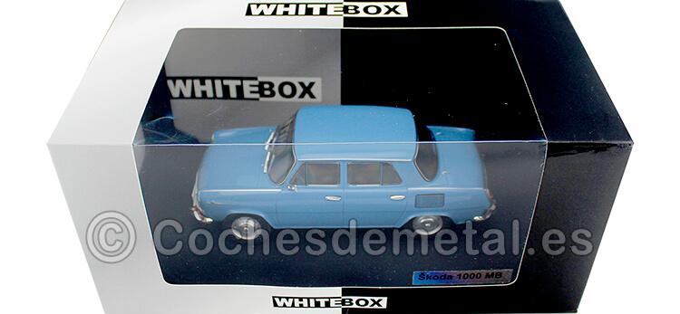 1966 Skoda 1000 MB Sedan Azul Claro 1:24 WhiteBox 124054