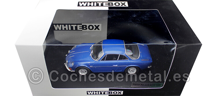 1973 Renault Alpine A110 1800 Azul 1:24 WhiteBox 124058