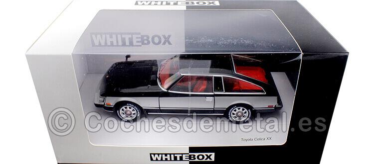 1978 Toyota Celica XX RHD Negro/Plata 1:24 WhiteBox 124060
