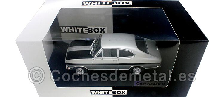 1977 Opel Kadett B Rallye Gris/Negro 1:24 WhiteBox 124065