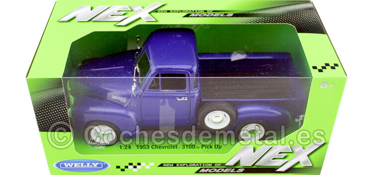 1953 Chevrolet 3100 Azul Metalizado 1:24 Welly 22087