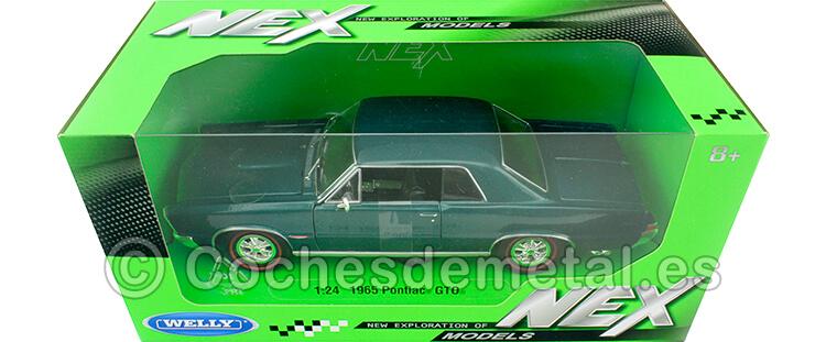 1965 Pontiac GTO Verde Metalizado 1:24 Welly 22092