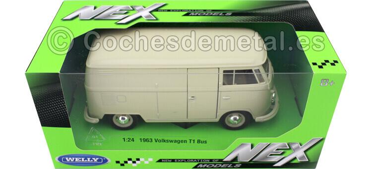 1963 Volkswagen T1 Panel Van Beige 1:24 Welly 22095
