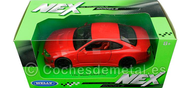 2002 Nissan Silvia S15 Tuning RHD Rojo 1:24  Welly 22485