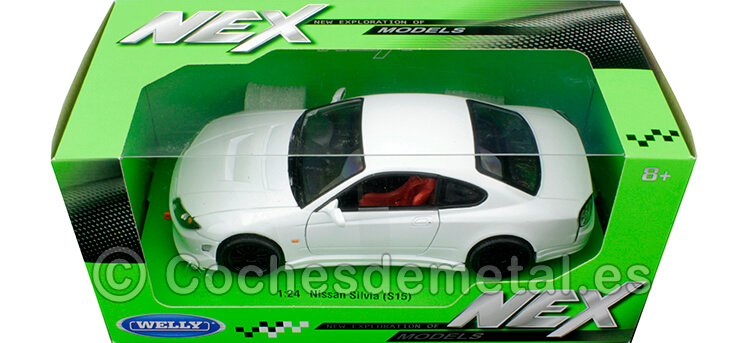 2002 Nissan Silvia S15 Tuning RHD Blanco 1:24  Welly 22485