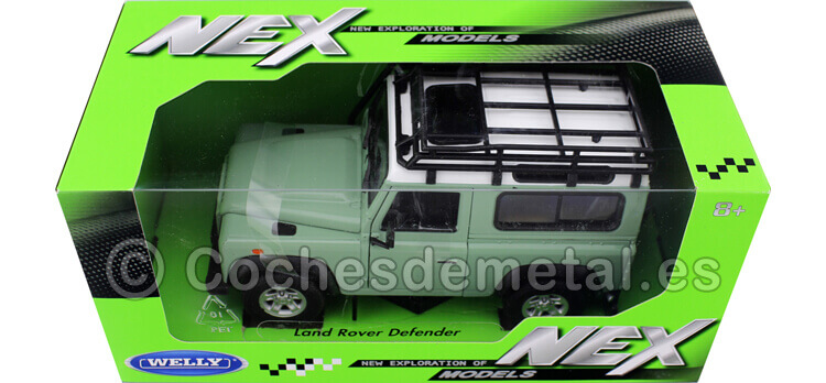 2010 Land Rover Defender 90 TDI Verde con Snorkel 1:24 Welly 22498