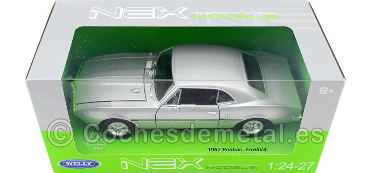 1967 Pontiac Firebird Silver 1:24 Welly 22502