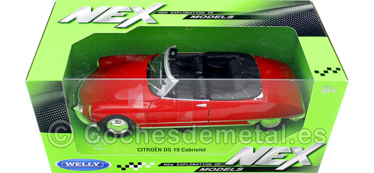 1956 Citroen DS 19 Cabriolet Abierto Rojo 1:24 Welly 22506