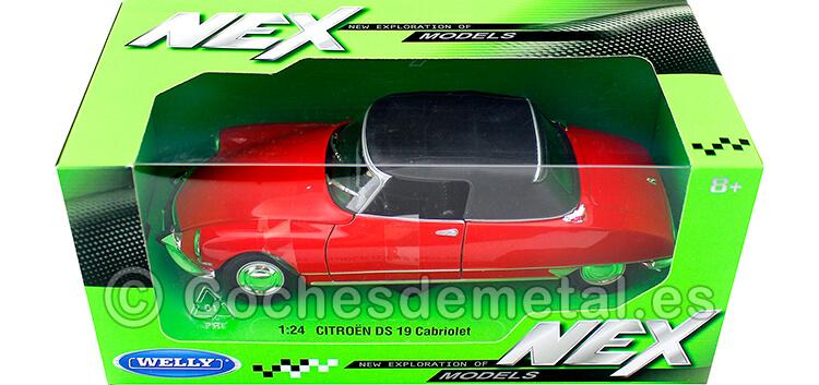 1956 Citroen DS 19 Cabriolet Cerrado Rojo 1:24 Welly 22506