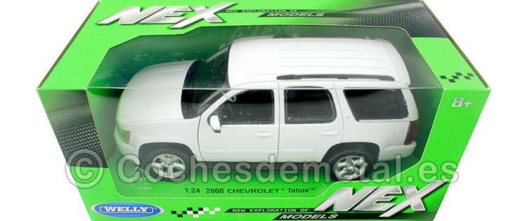 2008 Chevrolet Tahoe Blanco 1:24 Welly 22509