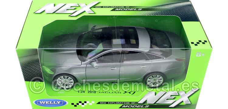 2010 Jaguar XJ Metallic Grey 1:24 Welly 22517
