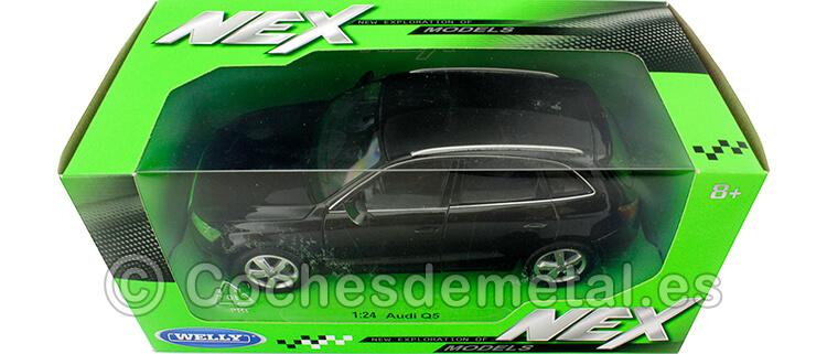 2009 Audi Q5 Negro 1:24 Welly 22518
