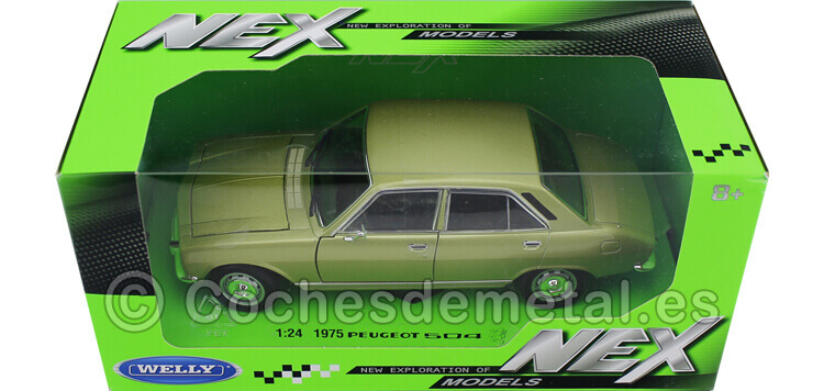 1975 Peugeot 504 Verde 1:24 Welly 24001