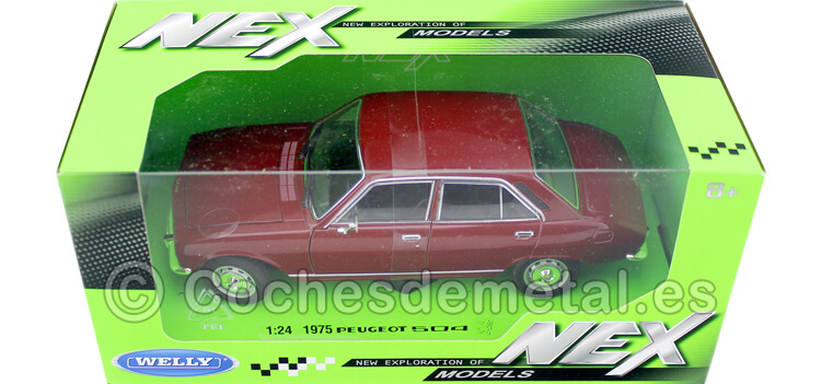 1975 Peugeot 504 Granate 1:24 Welly 24001