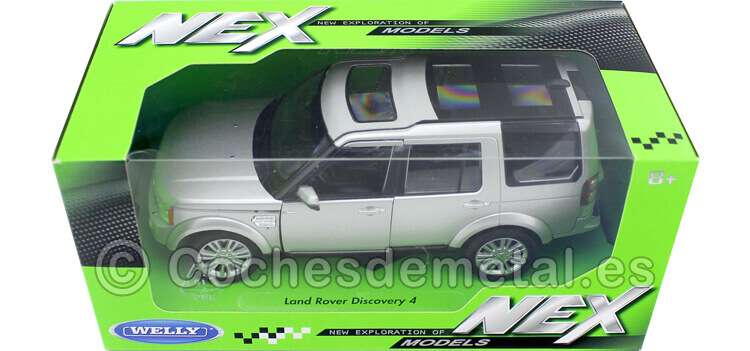 2010 Land Rover Discovery 4 Gris Metalizado 1:24 Welly 24008
