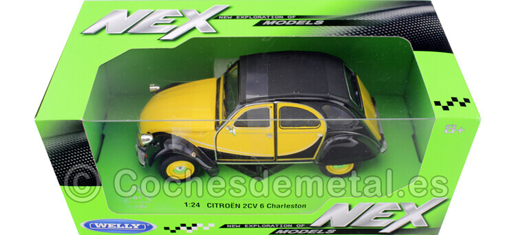 1982 Citroen 2CV 6 Charleston Amarillo/Negro 1:24 Welly 24009