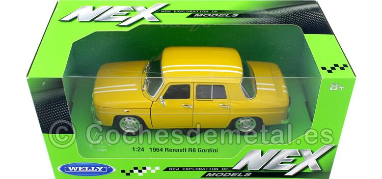 1967 Renault 8 R8 Gordini 1100 Amarillo/Blanco 1:24 Welly 24015