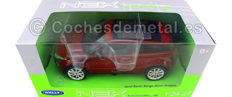 2011 Land Rover Range Rover Evoque Metallic Red 1:24 Welly 24021